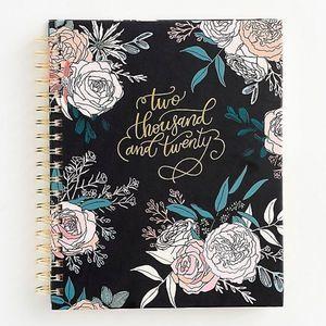 "2020 Floral Calendar Planner 8.25"" x 7.75"""